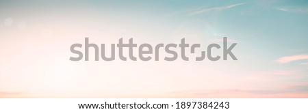 Abstract blur morning nature sky bright bokeh texture background concept happy beach horizon landscape, Clean sunset summer light, Gradient pastel color of mint green teal, health medical relax.