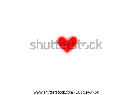 Abstract blur of Paper red heart with White Pastel plastic texture background. Valentine concept. Minimal concept. Copy space #1016149960