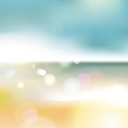 Abstract blur of sea with bokeh effect background