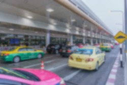 Abstract blur of traffic at airport