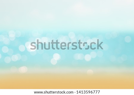 abstract blur or bokeh light on sea background in summer. #1413596777