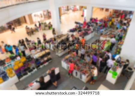 Abstract blur people in shopping center #324499718