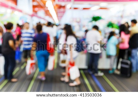 Abstract blur people shopping in department store, urban lifestyle concept #413503036