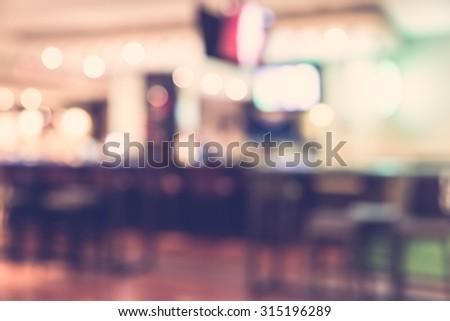 Abstract blur restaurant background - vintage filter #315196289
