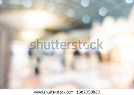 Abstract blur shopping mall interior of department store for background #1387950869