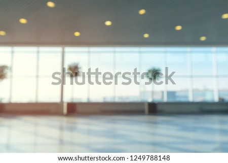 abstract blur shot in airport for background