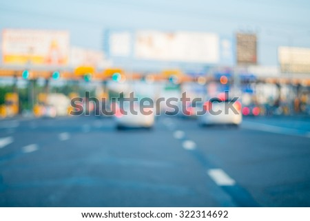 abstract blur tollway payment...
