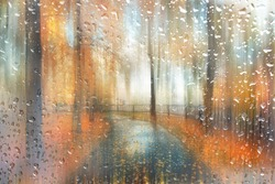 abstract blurred autumn landscape