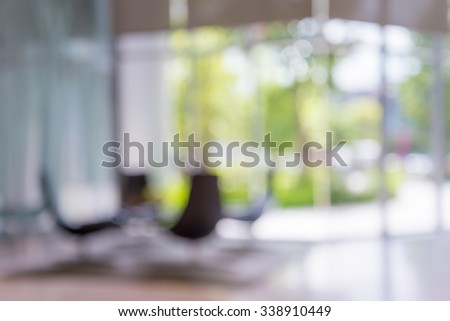 Abstract blurred background chairs in hotel luxury lobby