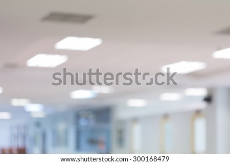 abstract blurred background interior light in office