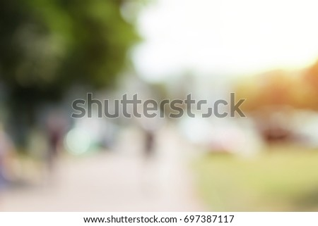 Abstract blurred background of a day city #697387117