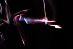Abstract blurred background with lighting effect. Abstract Light Painting.