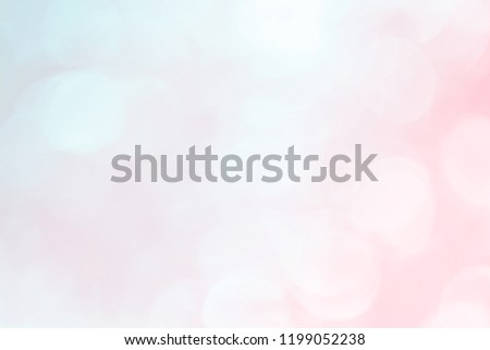 Abstract blurred beautiful glitter glowing pastel color of focus soft blur sweet gradient background with double exposure bokeh light concept for wedding card design or presentation or copy space.