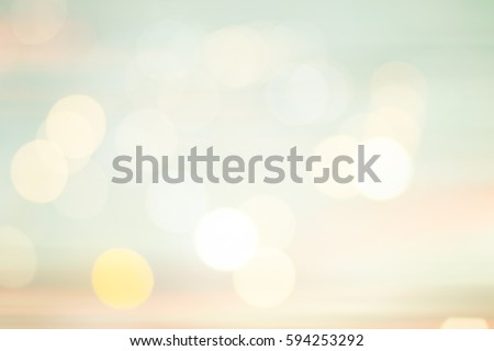 abstract blurred beautiful natural soft  beauty sky landscape background and ray flare light bokeh bulb.