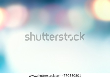 Abstract Blurred blue city lights  background scene with soft bokeh, fairy tale concept