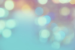 Abstract blurred bluish neon circles photo background - Instagram filter look. Elegant landscape design wallpaper.