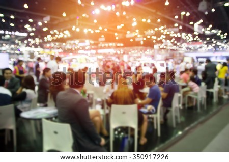 abstract blurred event with people for background #350917226