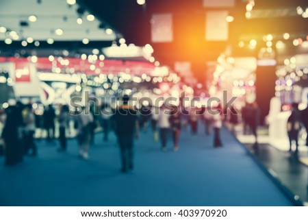 abstract blurred event with people for background #403970920