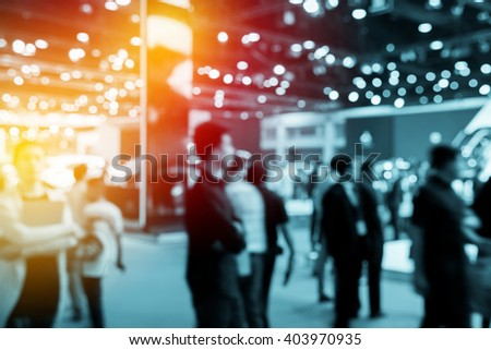 abstract blurred event with people for background #403970935