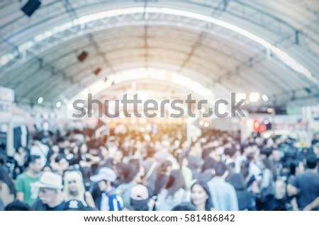 abstract blurred event with people for background #581486842