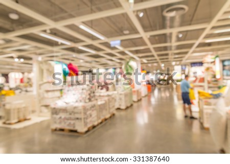 Abstract blurred furniture home decor store background. Shutterstock Mobile  Royalty Free Subscription Stock Photography