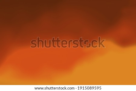 Abstract blurred gradient mesh background texture.Colorful smooth.Wallpaper,banner,business card design, book Illustration,print,frame.Watercolor brown red orange yellow colors.Paper.Blood.Fire.Sunset