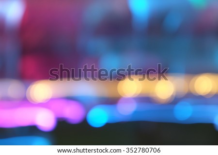 Abstract blurred movement light at park bokeh background #352780706