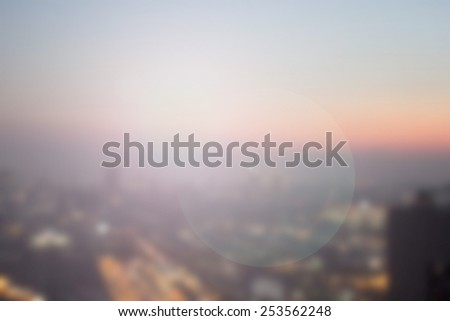 Abstract blurred night city background with circle light. blur backgrounds concept:blur of cityspace wallpaper concept:blurry night urban backdrop.blurred city landscape.
