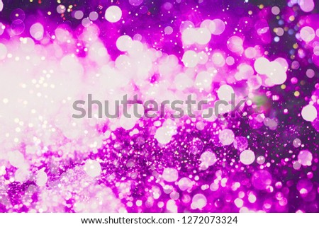 abstract blurred of blue and silver glittering shine bulbs lights background:blur of Christmas wallpaper decorations concept.xmas holiday festival backdrop:sparkle circle lit celebrations display #1272073324