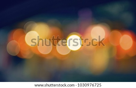 abstract blurred of colorful lights background:blur of Christmas wallpaper decorations concept.backdrop:sparkle circle lit celebrations display. #1030976725