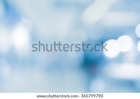 abstract blurred of hospital corridor background:blurry of workplace office in medical clinic backdrop with bokeh circle light:blur of medicine laboratory workshop wallpaper:blurred display conception