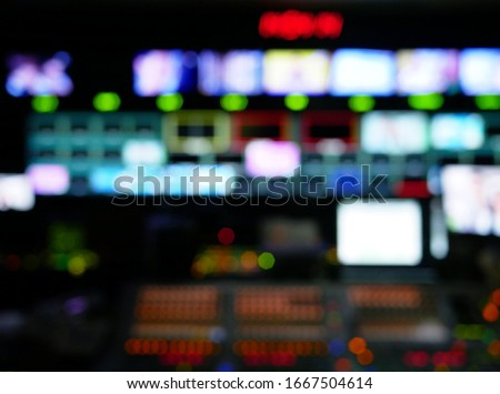 abstract blurred of studio at TV station. Stock photo ©
