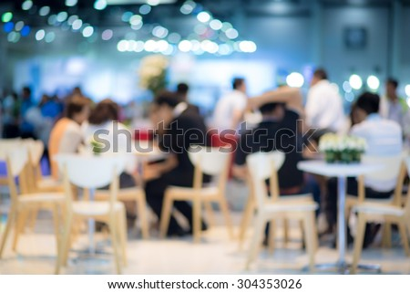 abstract blurred people in food center and coffee shop #304353026