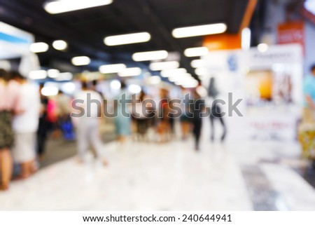 Abstract blurred people walking in shopping center