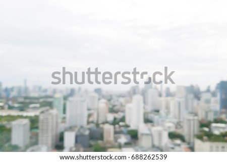 abstract blurred sky morning g city building of downtown construction background with lens flare effect.  Stock fotó ©