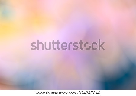 Abstract blurred soft mix colored blots bokeh background