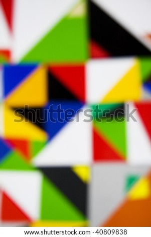 Abstract blurred suprematic background