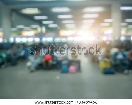 abstract blurred ticket office...