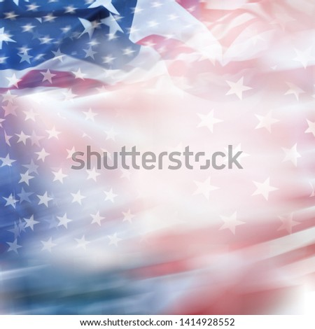 Abstract blurred USA America flag #1414928552