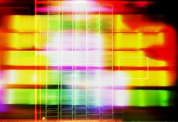 abstract blurred yellow blocks pattern