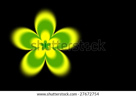 Abstract blurred yellow green flower background