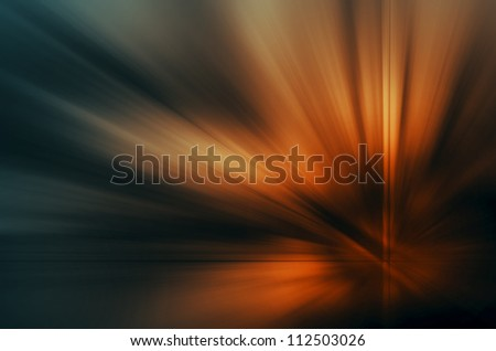 Abstract blurry background in orange and green tones