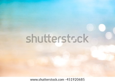 abstract blurry background of the beach