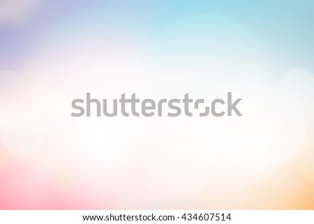 abstract blurry beautiful colorful background for summer and spring season concept. #434607514