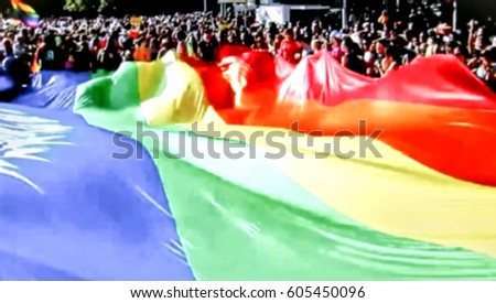 Abstract, blurry, bokeh background, image for the background. The movement, the LGBT community