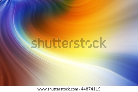 Abstract blurry colorful background made of waves of color. - stock photo