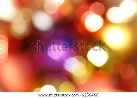 Abstract Blurry Holiday Lights