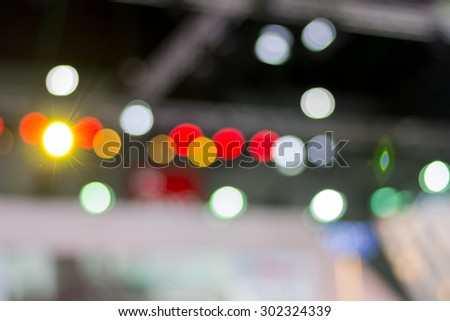 Abstract blurry light in convention event hall-bokeh blur background - Shutterstock ID 302324339