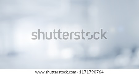 abstract blurry loft cozy interior office workplace background with light window effect for banner , ads design Foto d'archivio ©