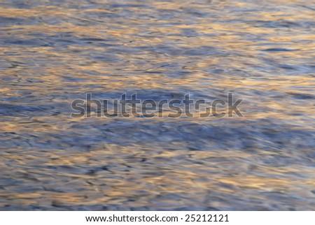 abstract blurry pattern of broken ocean waves at long exposure